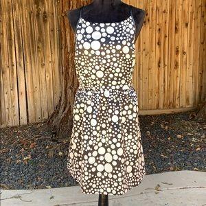 Kensie Xl black w/ white polka dot dress